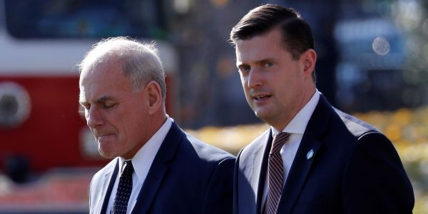 White House spokesman admits 'we all could have done better' during marathon grilling over Rob Porter scandal