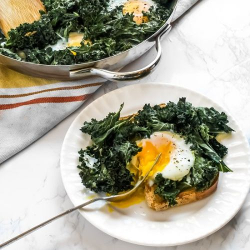 Crispy Kale and Egg Bake