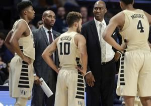 The Latest: Wake Forest places accused coach on leave