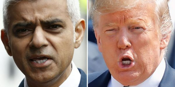 Trump says London Mayor Sadiq Khan is a 'disaster' but homicide rates in US cities are much higher