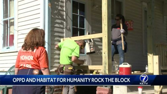 """Habitat for Humanity and OPPD team up to """"Rock the Block"""""""