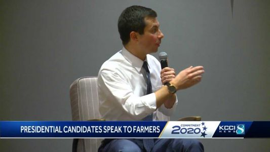 Six presidential candidates speak to farmers in Grinnell