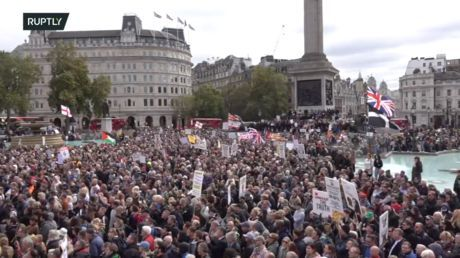 'We do not consent': London rally against Covid-19 measures draws huge crowds
