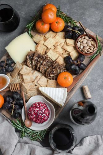 An Easy Winter Cheeseboard and Beaujolais Wine