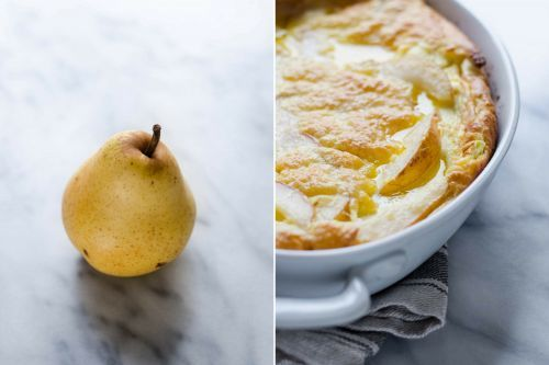 Pear Dutch Baby/German Pancake
