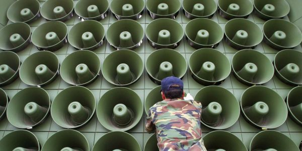 South Korea stops blaring propaganda into North Korea to 'create the mood' of peacefulness