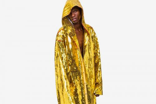 Rick Owens Drops Opulent Beach Parka in Gold Sequin