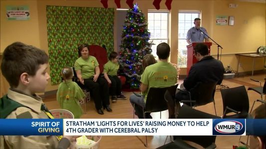 Stratham's Lights 4 Lives event raises money for child with cerebral palsy