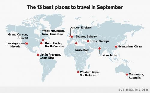 The 13 best places to visit in September for every type of traveler