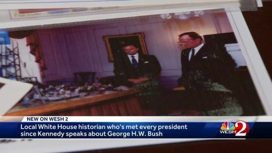 Local White House historian speaks about George H.W. Bush