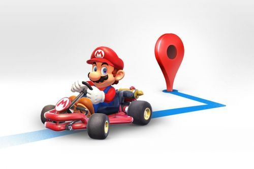 'Mario Kart' Appears on Google Maps for Mario Day