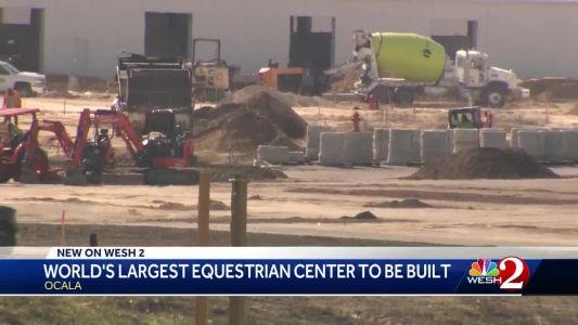 Construction well underway on 'World's Biggest Equestrian Center' in Ocala