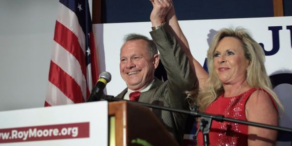 Roy Moore's wife rails against The Washington Post and says her husband won't step aside from Senate race in impassioned defense