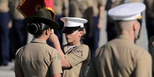 She's photographed every major war of the last 20 years, but Marine Corps boot camp was something else entirely