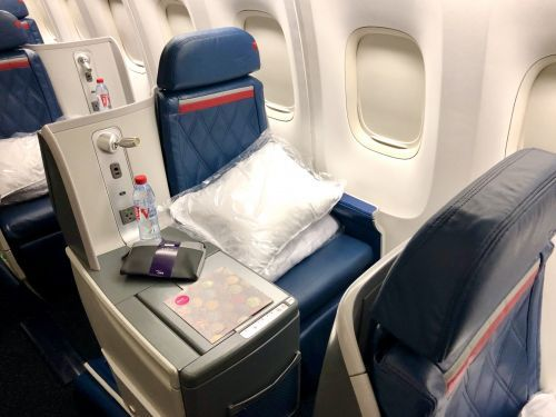 I flew Delta's reviled 767 business class seat from Europe to New York. Here's what it was actually like