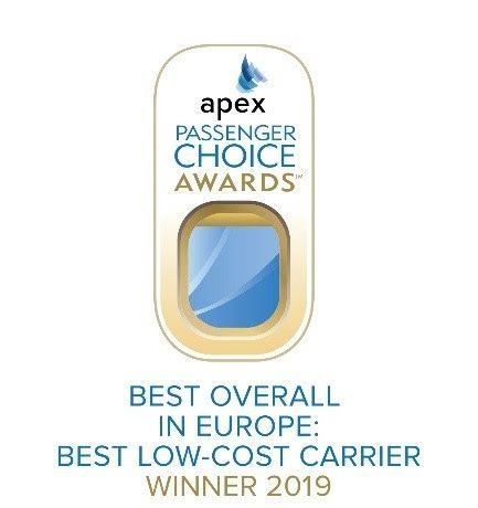 Norwegian Wins 'Best Low-Cost Carrier in Europe' at 2019 APEX Passenger Choice Awards