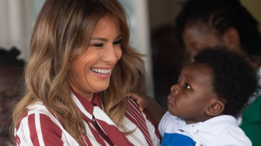 Melania Trump Arrives In Ghana, Starting First Solo Foreign Trip