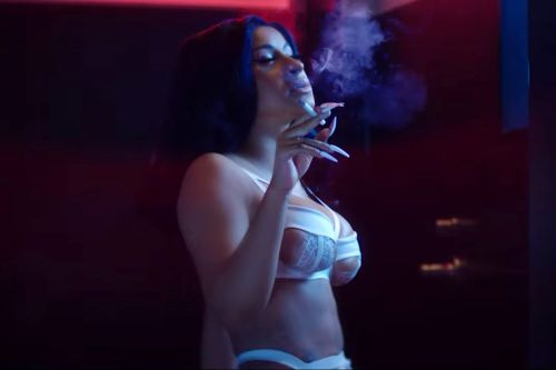 Cardi B gets naked in violent music video for 'Press'