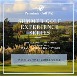 New Zealand Summer Golf Experience Series starts December 29-30th at Gulf Harbour Country Club