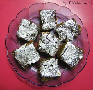 Fig & Dates Barfi . Easy to make