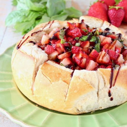 Strawberry Baked Brie Bread Bowl