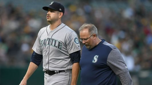 Seattle's James Paxton exits early with injury, Felix Hernandez makes relief debut