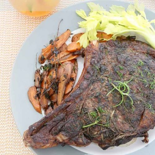 Steak with Thyme, Rosemary and Dill