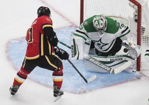 Another shorty for Flames in 2-0 win over Stars for 2-1 lead