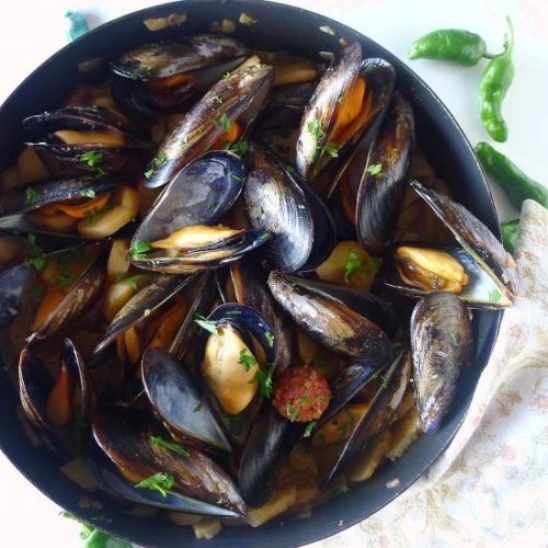Potatoes with Mussels