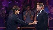 James Corden And Ashton Kutcher Get Mighty Mean In 'Drop The Mic'