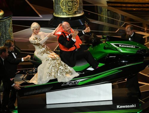 The 'Phantom Thread' costume designer ended up winning Jimmy Kimmel's $18,000 Jet Ski at the Oscars