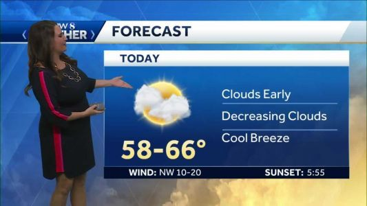Cool, mostly cloudy Sunday before a warm up this week