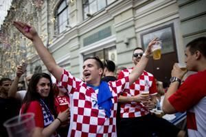 The Latest: France takes 1-0 lead on Croatia own goal