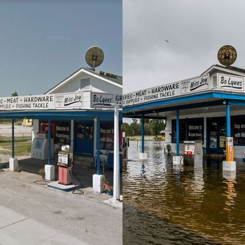 Before-and-after photos show Hurricane Michael's destruction