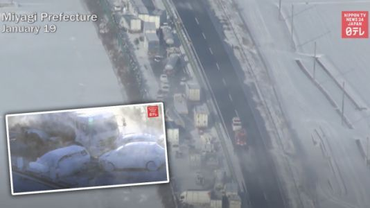 Blizzard Causes Colossal 134-Car Wreck In Japan