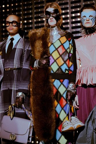 Gucci sent kinky leather masks and weeping models down the runway in Milan