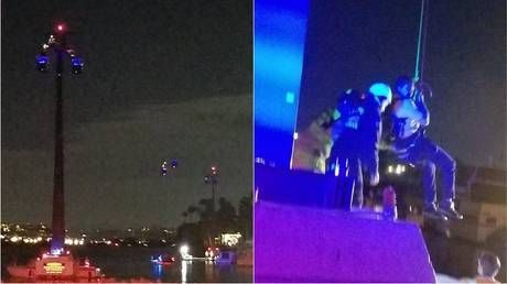 Seaworld ride malfunction sees passengers trapped 80 feet in the air for 4 hours