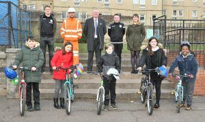 Network Rail Brings 'Edinburgh Cheer' To Local School With Donation Of Children's Bikes