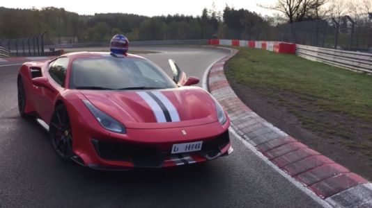 Watch A Ferrari 488 Pista Absolutely Rip Through A Nürburgring Lap