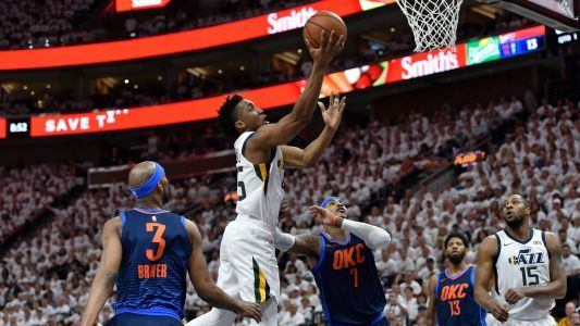 Jazz rookie Donovan Mitchell is outshining Thunder's stars on NBA's biggest stage
