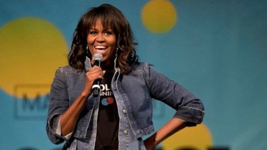 Michelle Obama Wore a Very Cool Denim Jacket While Hosting College Signing Day
