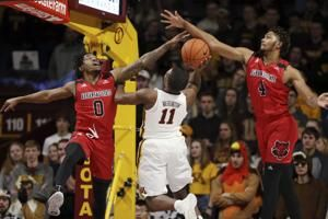 Oturu's 19 points sends Gophers to 72-56 win over Red Wolves