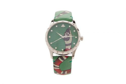 """Gucci Revisits Its Popular """"Kingsnake"""" Graphic With New Leather Watch"""