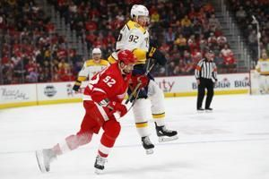 Larkin's overtime goal sends Red Wings past Predators 4-3