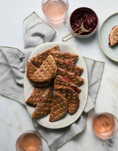 The Easiest Cranberry Brie Grilled Cheese