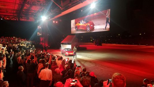 Tesla CEO Elon Musk Unveils a New $200,000 Roadster in Surprise Twist At Truck Event