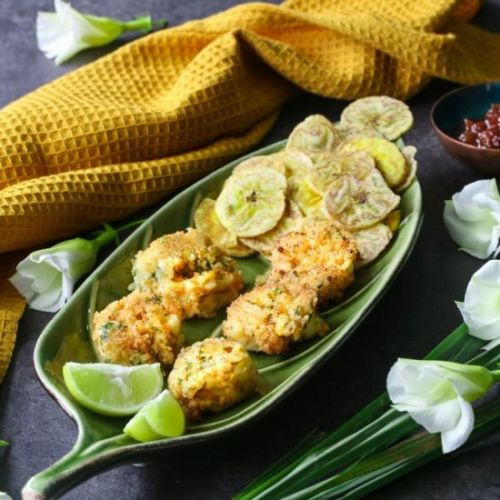Spicy Fried Coconut Prawns