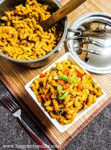 Thai Red Curry Vegan Mac and Cheese