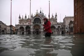 Venice flooded with second-highest waters on record