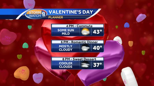 Warmup underway in time for Valentine's Day